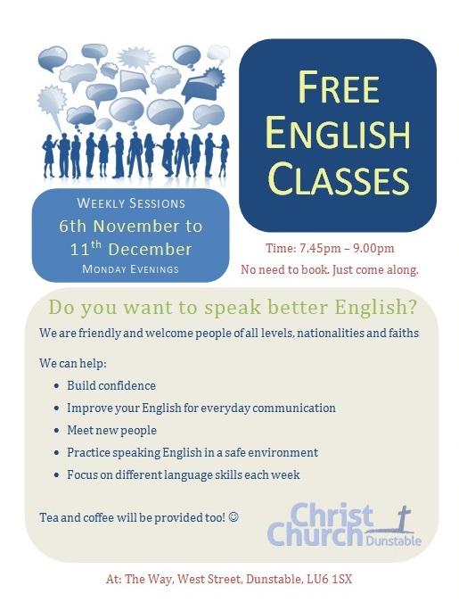 English Classes winter 2017